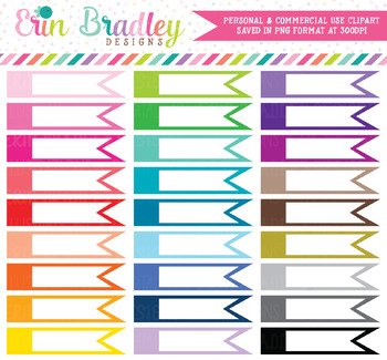 Blank Side Flags Clipart Labels