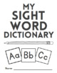 Blank Sight Word Dictionary & Open-Ended Activities for Di
