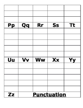 Blank Sight Word Form for file folder