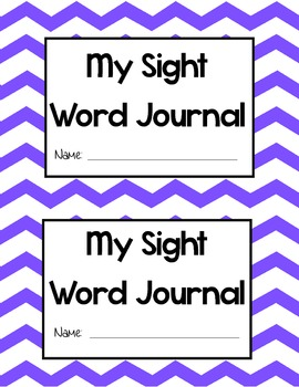 Blank Sight Word Journal