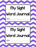 Blank Sight Word Journal