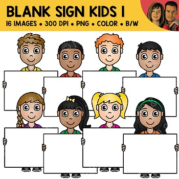 Blank Sign Kids Clipart 1