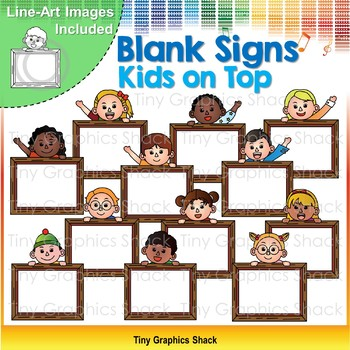Blank Signs Kids on Top