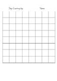 Blank Skip Counting Grid
