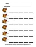 Blank Skip Counting Sheet - Turkey Theme