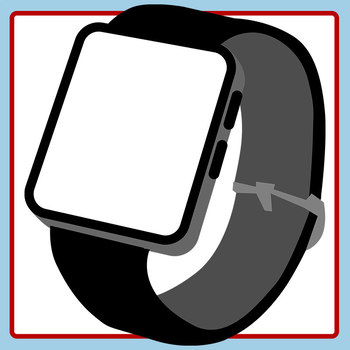 Blank Smart Watch Templates Clip Art Set for Commercial Use