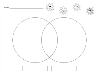 Blank Snowflake Graphic Organizers for Reading and Writing