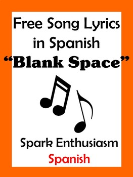 Blank Space Song Lyrics in Spanish