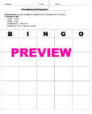 Blank Spanish Bingo Card Template
