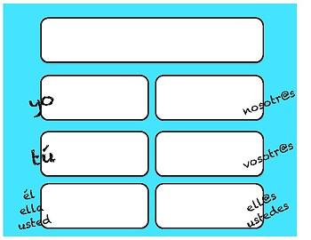 Blank Spanish Conjugation Charts