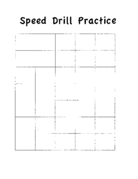 Blank Speed Drill Practice