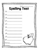 Blank Spelling Test 20 Questions