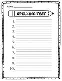 Blank Spelling Test