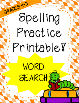 Word Work: Design a Wordsearch (Spelling Worksheet)