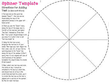 photograph about Printable Fidget Spinner Template identified as Spinner Template Worksheets Instruction Components TpT