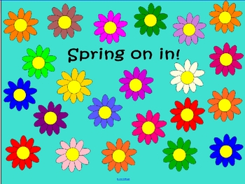 Blank Spring Smart Board Attendance page