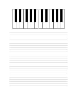 Blank Staff Paper & Keyboard