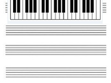 Blank Staff with Piano Keyboard Projection