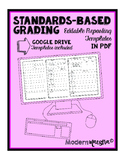 Blank Standards-Based Grading Templates + Google Drive Templates