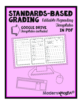 Blank Standards-Based Grading Templates + Google Drive Templates