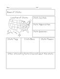 Blank State Fact Sheet - United States