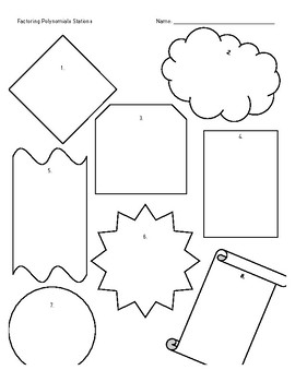 Blank Stations Worksheet