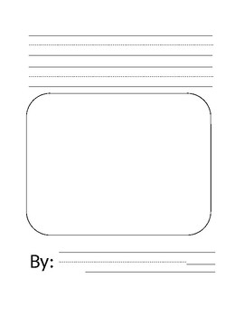 Blank Story Book Writing Paper
