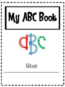 Blank Student Alphabet Letter and Sound book