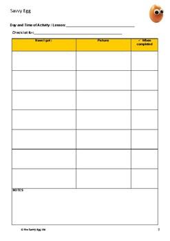 Blank Student Checklist