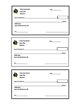 Blank Student Checks