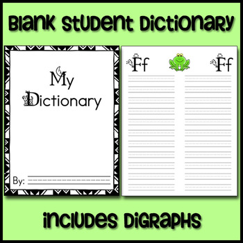 Blank Student Dictionary