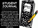 Blank Student Journal