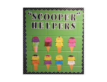"""Blank Student Scoops for """"Scooper Helpers"""""""