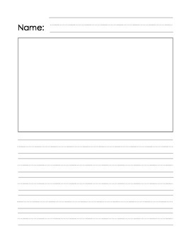 Blank Student Writing Page with Illustration