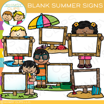 Blank Signs for Summer Clip Art