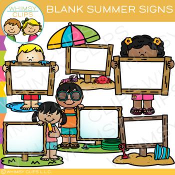 Blank Summer Signs Clip Art