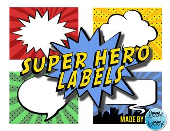 Blank Super Hero Labels - Free Printable