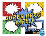 Free Super Hero Labels
