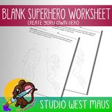 Blank Superhero Worksheet