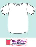 Blank T-Shirt Template Clip Art + PDF
