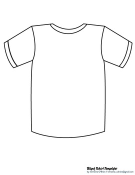 Blank T Shirt Template Clip Art PDF