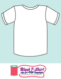 Blank T-Shirt Template Clip Art + PDF