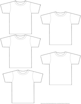 Blank T-shirt Template - 1 page