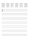 Blank Tab/Chord Guitar Paper