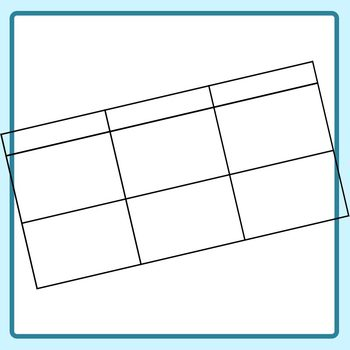 Blank Tables Grapic Organizer (2) Blank Templates Clip Art Set Commercial Use