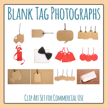 Blank Tag Photos Clip Art Set for Commercial Use