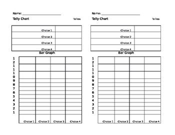 Blank Tally Chart and Graph Paper