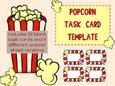 Blank Task Card Template Popcorn theme