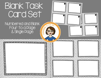 Blank Task Cards  - Numbered and Empty