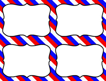 Blank Task Cards: America | Editable PowerPoint